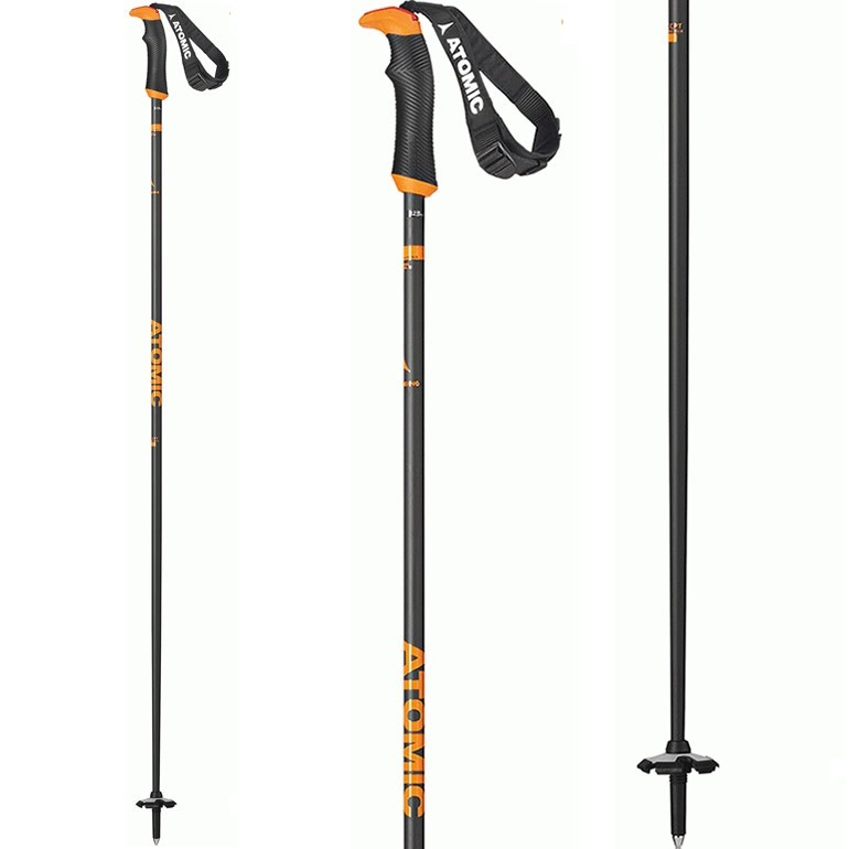 Atomic AMT Carbon SQS Grey/Orange Ski Poles
